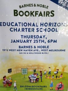 Join us on Thursday, Jan 25th between from 6-8 pm for our annual Barnes and Noble book fair! Help us build our classroom libraries and support our school. Each purchase in the store or online will benefit our students and teachers.  Vouchers with our scho